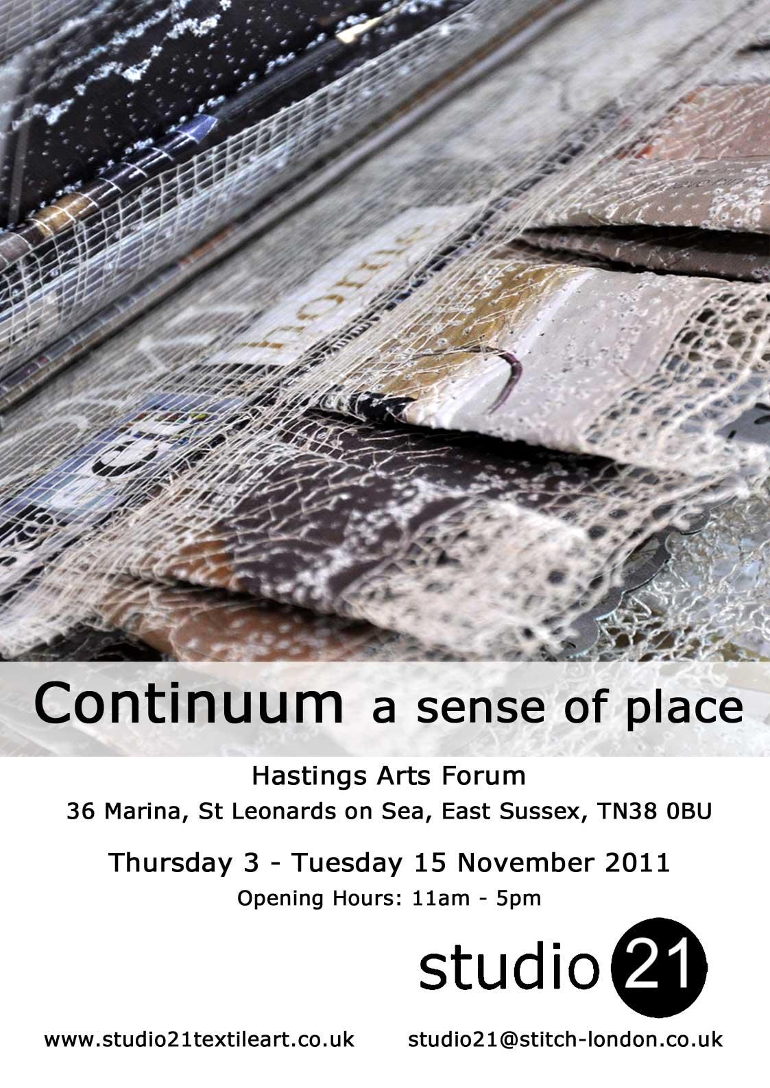 Continuum @ Hastings Art Forum